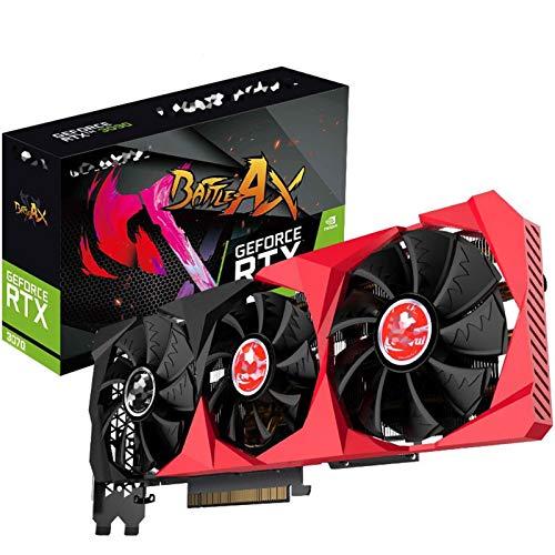 XIKONG Tarjeta de Video, RTX 3070 8GB GDDR6 Tarjetas gráficas 256bit 1725 MHz GPU ArchitechTture 3DP 3 Adaptador de enfriamiento del Ventilador