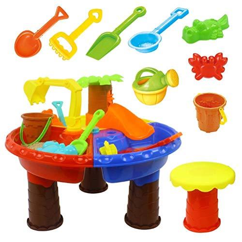 Eksesor Mesa de Arena de Juguete para niños, Mesa de Juego de Arena y Agua