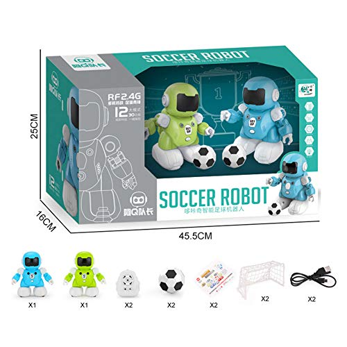 Faironly Kids Robot de fútbol Inteligente inalámbrico con Control Remoto Juego de Sonido Interactivo Juguete
