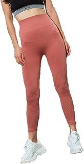 Staresen - Pantalones de yoga para mujer, cintura alta, cintura alta, elásticos, de compresión, huecos, de secado rápido, M, Red, 1