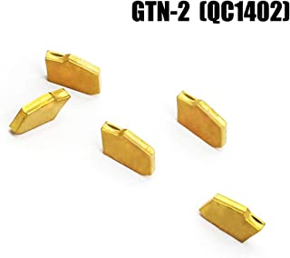 OSCARBIDE Carbide Inserts GTN-2(QC1402) Multilayer Coated CNC Lathe Inserts for Lathe Grooving Cut-Off Tool,5 Pieces/Pack