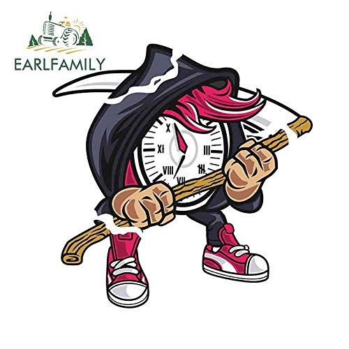 JYIP Familia de Auriculares 13cm x 12 7 cm para Reloj de Pulsera de Coche Creativas de Personalidad calcomanías de Anime aptas para GTR EVO SX-Style_A