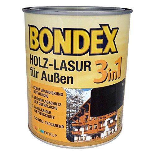 Bondex 3in1 Holzlasur für außen 4 Liter Mahagoni