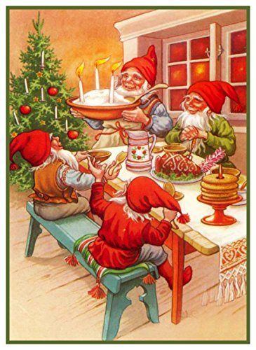 Orenco Originals Elves Christmas Meal Jenny Nystrom Christmas Counted Cross Stitch Pattern