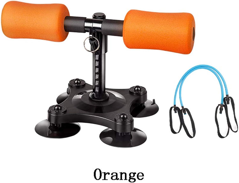 2018 Sit-up Exercise Situp Bar Portable Self-Suction Adjustable Equipment Helper Core Trainer (color   orange)