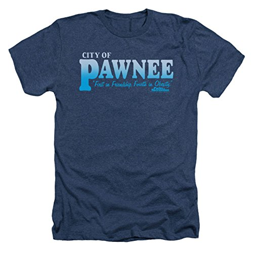 Parks And Recreation Comedy NBC TV Series Pawnee Adult Heather T-Shirt Tee