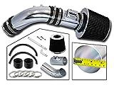 Rtunes Racing Short Ram Air Intake Kit + Filter Combo BLACK Compatible For 04-07 Honda Accord2.4L L4 SULEV