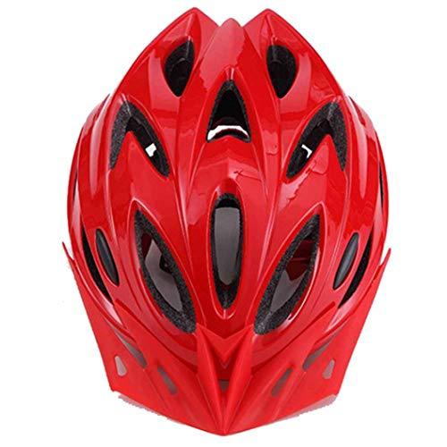 Casco de Ciclismo Transpirable de 18 respiraderos para Verano, Bicicleta de montaña de Carretera, Casco de Ciclismo Ligero, Casco de Bicicleta Ajustable Unisex