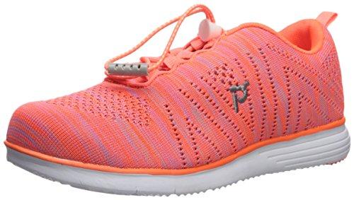 Propet Women's Travelfit Walking Shoe, Orange/Pink, 7 2A US