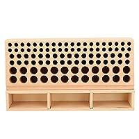 100穴 レザークラフト レザークラフトツールホルダー レザーパンチラック 木製 パンチツールスタンドホルダー 革工具収納 スタイリングツール 工具収納 ツール収納 オーガナイザー (100穴)