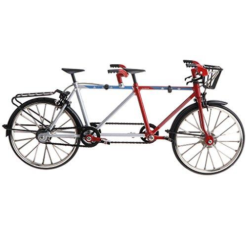 D DOLITY 1:10 Legierung Diecast Tandem Fahrrad Rennrad Modell für Puppenhaus/Puppenstube Dekoration - Schwarz