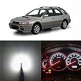 WLJH White Dash Light Bulbs Led Full Conversion Kit for Subaru Impreza 1999-2001 Instrument Panel Gauge Cluster Speedometer, Pack of 21