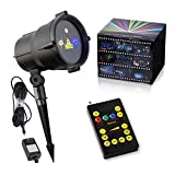 Christmas Laser Lights Waterproof Outdoor Star Projector with Wireless Remote Control for Seasonal Decoration,Wedding,Home Party,Garden,DJ Disco (RGB)
