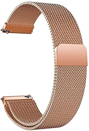 YHXJ Correa de reloj de metal para hombre y mujer, de acero inoxidable, cierre rápido, 4 colores, 16 mm, 18 mm, 20 mm, 22 mm, 24 mm, accesorio para reloj de pulsera, 16 mm, rosa