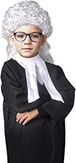 Yalla Baby Kids Lawyer & Judge Role Play Costume Set for Kids Boys & Girls - Pretend Dress up Set Includes Cape, Wig, Gave...