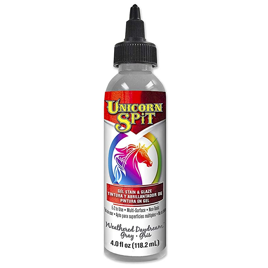 Unicorn SPiT 5770013 Gel Stain & Glaze, Weathered Daydream, 4 Ounce Bottle, Grey