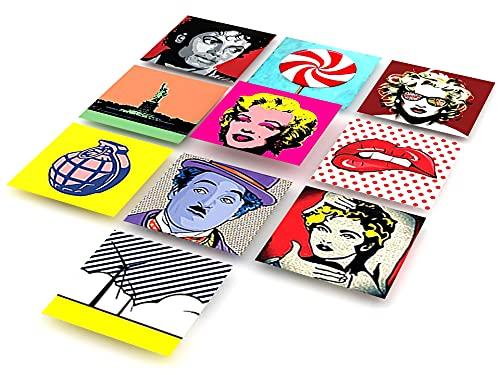 Tink Kunststoff-Folien & Klebefliesen| Perfekter Dekor für Kinder- und Jugendzimmer | Selbstklebende Fliesenaufkleber für Tür, Wand, Fliesen oder Möbel geeignet (Popart, 15x15 cm // 10 Stück)