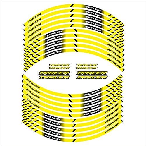 Mrjg Pegatinas de Llantas Nuevo Neumático de la Motocicleta Signo de la decoración Etiqueta Etiqueta Inger Rim Reflexivo Calcomanías FIT Tracer Todos (Color : 1)