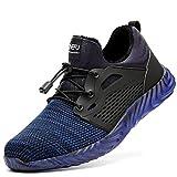 Stivali da scarpe di sicurezza Uomo Scarpe da lavoro Scarpe da lavoro Steal Toe Scarpe da scarpe di sicurezza Sneaker Grande taglia 48 Dimensioni Sport Sport Shoes Shoes-Blue 1 Plus Velvet_41EU.