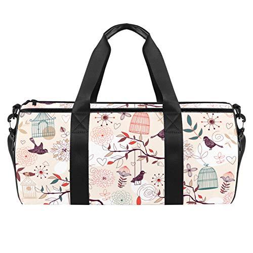 Pájaros jaulas de pájaros, plantas, bolsa de gimnasio cilíndrica de viaje bolsa...