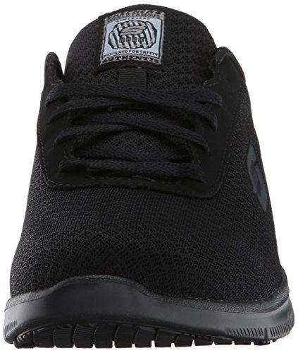 Skechers Womens Ghenter - Bronaugh Work Shoe, Black Mesh/Water/Stain Repellent Treatment, 8 US Delaware