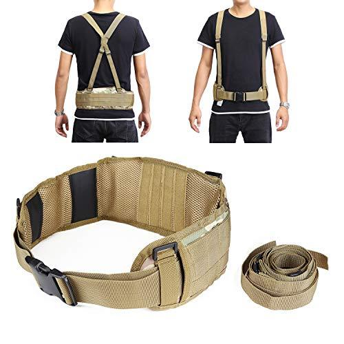 YAHILL® Molle Cinturón Táctico Ajustable Militar de Seguridad Equipo de Pistolas de...