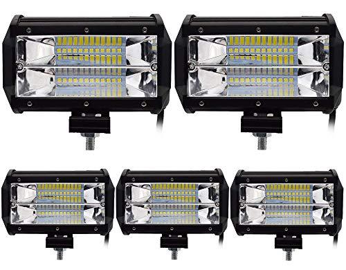 Leetop 5X 72W LED Zusatzscheinwerfer IP67 Wasserdicht Light Bar 12V 24V LED Arbeitsscheinwerfer Offroad Auto LED Scheinwerfer Arbeitslicht