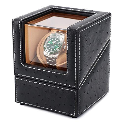 ZCYXQR Enrolladores de Reloj, Enrolladores de Reloj para Relojes automáticos, Enrollador de Reloj Individual, Enrollador de Reloj para Caja automática Rolex con batería PowereWith Quiet Motor