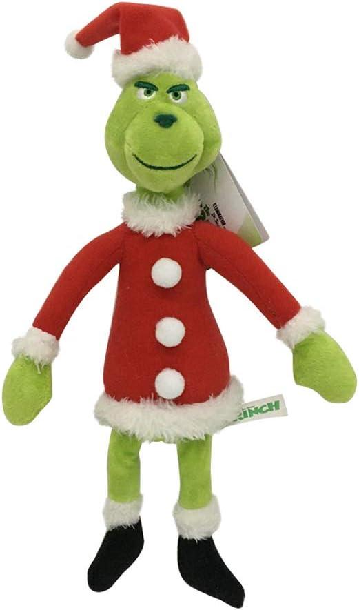 JAWSEU Muñeca de Navidad Cómo El Grin-ch Robó Un Peluche de Peluche Niños, Juguetes de Peluche de Navidad Muñeca de Felpa de Navidad Grin-ch Suave para Niños Regalo de Cumpleaños