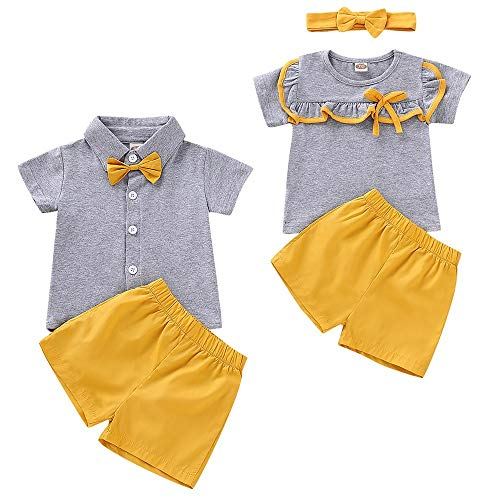 puseky Baby Boys Girls Short Sle...