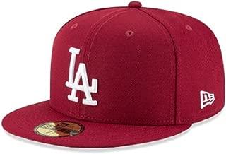New Era 59Fifty MLB Basic Los Angeles Dodgers Fitted Burgundy Headwear Cap