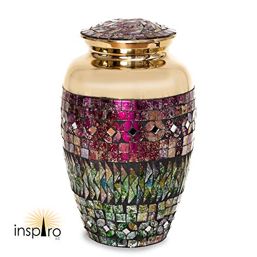 Cremation Urn Mosaic Cracked Glass
