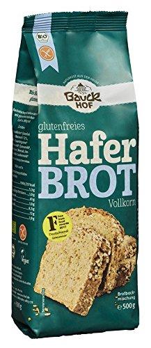 Bauckhof Haferbrot Vollkorn glutenfrei Bio, 6er Pack (6 x 500 g)