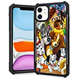 DISNEY COLLECTION iPhone 11 Case Dog in Animated Film Square Phone Cover Anti-Fall 360 Degree Shockproof Protective Case Compatible for iPhone 11 6.1 Inch 2019
