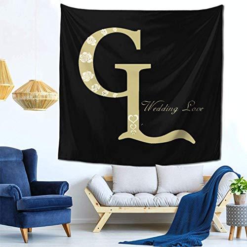 Lsjuee Wedding Love Tapestry Wall Hanging Home Decor Fan Art per Camera da letto Soggiorno Dormitorio