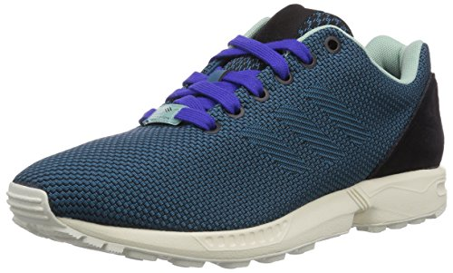 adidas Originals ZX Flux Weave B34470, Unisex-Erwachsene Low-Top Sneaker, Grün (Core Black/Surf Petrol S15-St/Night Flash S15), EU 40