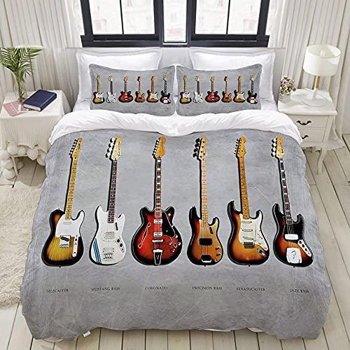 Luoquan Ropa de Cama - Funda nórdica Fender Stratocaster Telecaster Bass de...