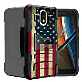 Untouchble Compatible with Moto G4  Moto G4 Plus Case   Motorola Moto G (4th Gen) Flag Case [Heavy Duty]- Shockproof Swivel Holster Case with Built in Kickstand - Vintage America Flag