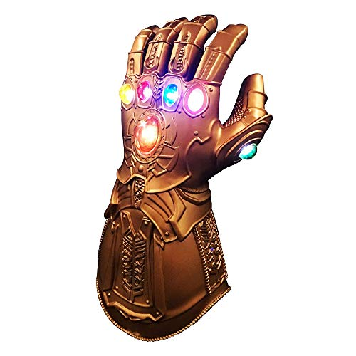 Huatuo Thanos Cosplay LED Glove, Infinity Thanos Gauntlet Action Figure Cosplay Thanos Glove Puntelli Cosplay di Halloween (Bambini (29 cm * 13,5 cm))