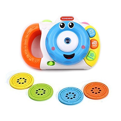 Musical Learning Projection Camera, Preschool Kid Sleep Sound Toy Educational Interactive (Color Vary)