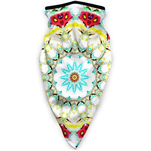 Odelia Palmer Asiático geométrico Floral Vintage Estilo Bohemio a Prueba de Viento Deportes Cuello Calentador pasamontañas Invierno multifunción térmico Personalizado para Ciclismo