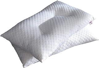 LHLHM Almohada Almohada Punto Blanco Cubo De Agua Almohada para Cuello Lavado con Agua Alta Y Baja Solo Almohada para Dormitorio De Estudiante