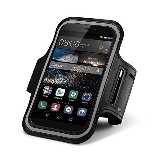 CoverKingz Huawei Mate 9 Brazalete Deportivo Negro Fitness de móvil para Correr con Llave Inglesa Compartimento para Llaves de Unidad móvil de Bolsillo - Aptitud móvil Deporte Pulsera