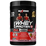 Whey Protein Powder | Six Star Whey Protein Plus | Whey Protein Isolate & Peptides | Lean Protein Powder for Muscle Gain | Muscle Builder for Men & Women | Strawberry, 2 lbs (package may vary)