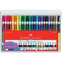 24-Pack Faber-Castell DuoTip Washable Markers (48 Colors)