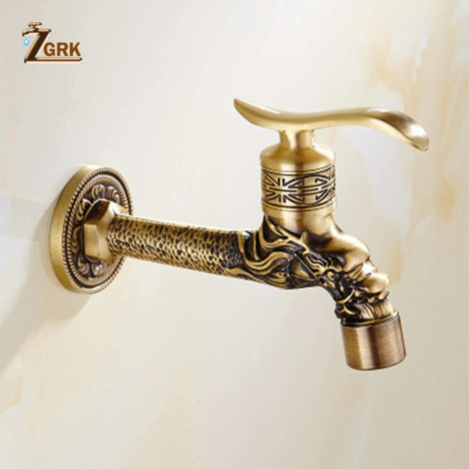 ZGRK Vintage Antique Brass redary Single Level Single Hole Kitchen Sink Mixer Tap Bathroom Sink Mixer Taps bathroom furniture fitting A-057