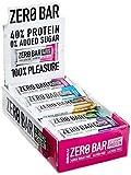 BiotechUSA ZERO Bar 20*50 g Schoko-Marzipan - Eines der besten Proteinriegel - 45% Protein, 0%...