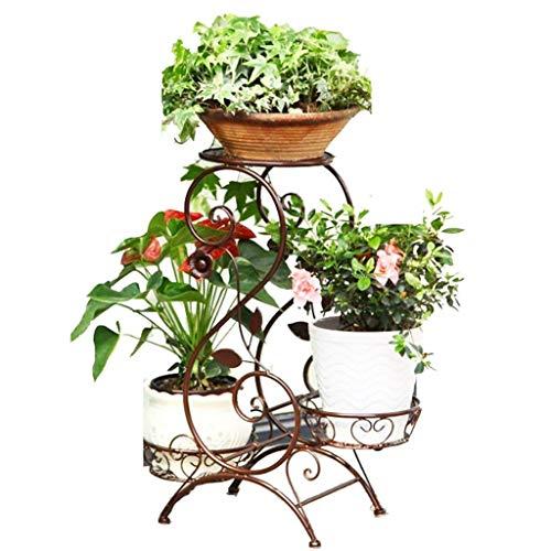 Stijlvolle eenvoud Europese smeedijzeren stijlvolle eenvoud bloem staan woonkamer balkon stijlvolle eenvoud bloem standaard vloer staande groene stalk orchidee stijlvolle eenvoud bloempot houder, messing
