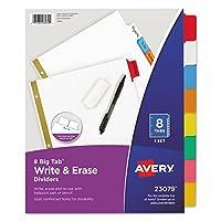Avery書き込み&消去ビッグタブ用紙ディバイダー、8-tab、手紙