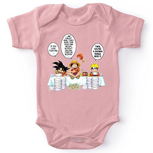 Parodie auf Son-Goku von Dragon Ball Z und Ruffy von One Piece und Naruto - Manga Baby Strampler (Mädchen) (773)